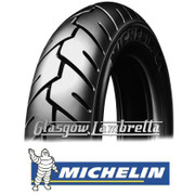 Set of 2 x Michelin S1 350 x 10 Tyres Fitted to S.I.P. Lambretta Tubeless Rims