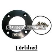 FORTIFIED Lambretta CUSTOM DRIVE SIDE OIL PLATE KIT BLACK CNC ALLOY + O RING