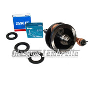 Lambretta GP/DL Italian ROAD RACE MEC / TAMENI 58/107mm CRANKSHAFT+ SKF/KOYO BEARINGS + SEALS KIT