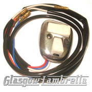 Lambretta Series 3 POLISHED HORN & LIGHT SWITCH TV/SX/GP/DL