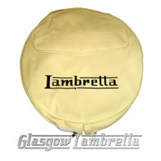 Lambretta CREAM / IVORY VINYL SPARE WHEEL COVER with POCKET 350x10 Li/TV/SX/GP