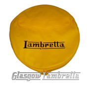 Lambretta YELLOW VINYL SPARE WHEEL COVER with POCKET 350x10 Li/TV/SX/GP