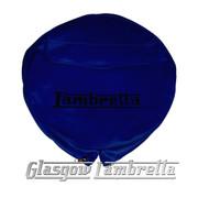 Lambretta DARK BLUE VINYL SPARE WHEEL COVER with POCKET 350x10 Li/TV/SX/GP