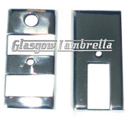 Vespa PX, T5 & LML POLISHED STAINLESS STEEL LIGHT SWITCH & INDICATOR COVER SET