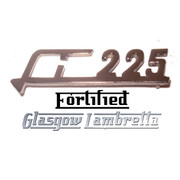 Lambretta s2 & s3 Li 225 CHROME LEGSHIELD BADGE by FORTIFIED (Original spec)