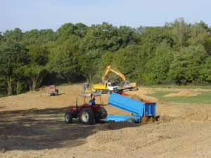 Moving the top soil around for consistency