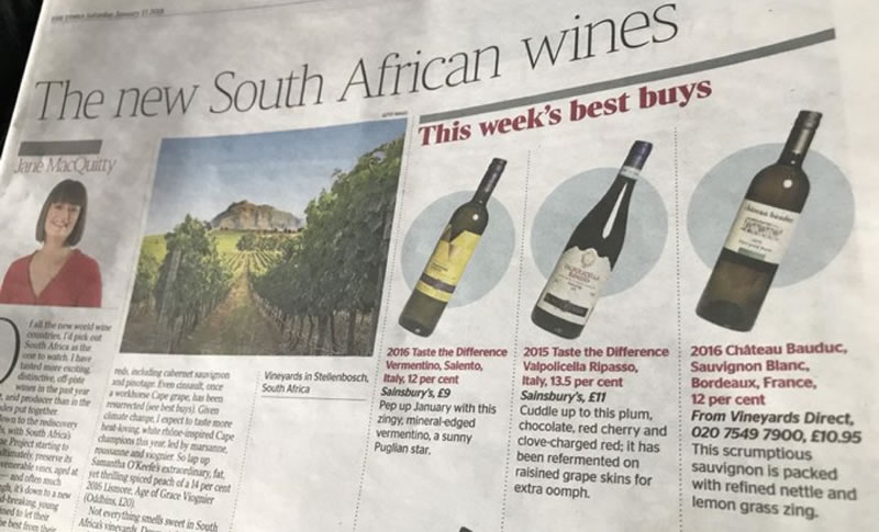 Jane MacQuitty's - 'Best Buy' in The Times