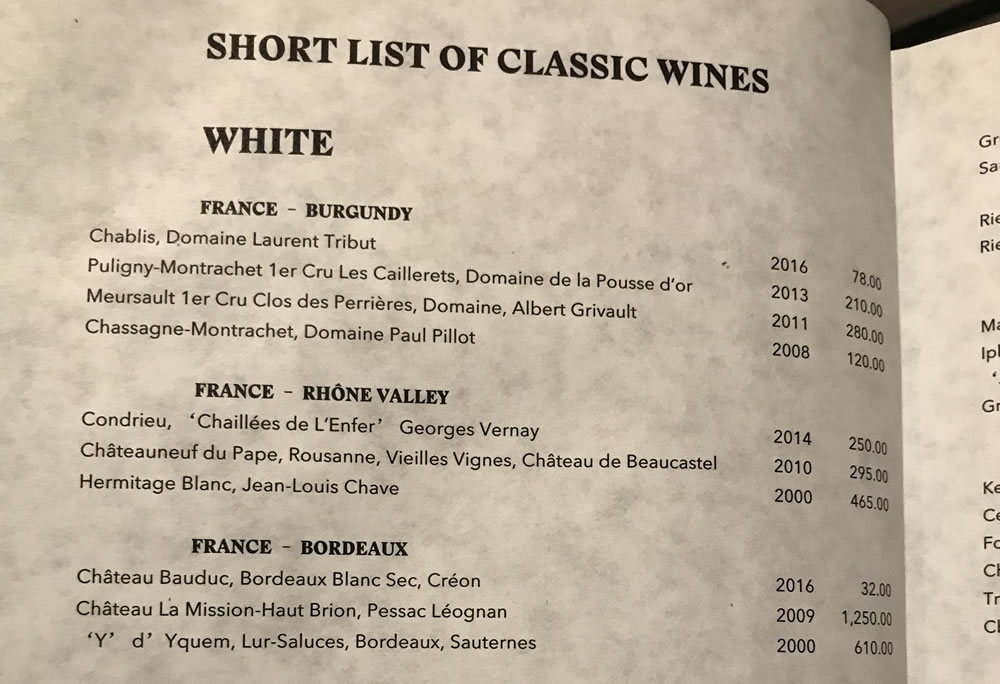 Short Classic Wines