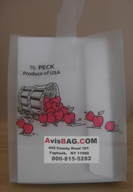 1 Peck Apple Frosted Tote bag - Custom Imprint