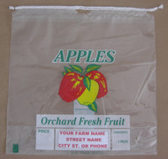 1/2 Peck Drawstring Apple bag - Custom Imprint