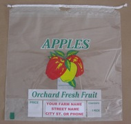 1/2 Bushel Drawstring Apple bag - Custom Imprint