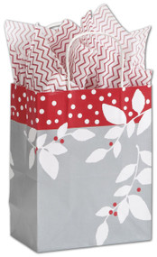 Silver Serenade Shoppers 25 Gift Bag Pack - 8.25x4.75x10.5""