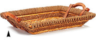 Oblong Seagrass and Straw Tray