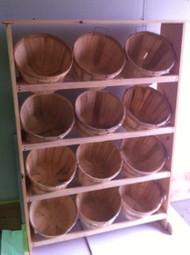 12 Half Bushel Wood Display