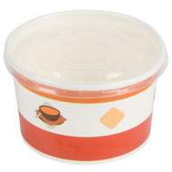 8 oz Paper soup/hot food cup combo