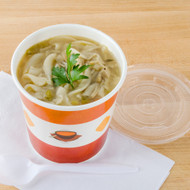16 oz Paper soup/hot food cup combo