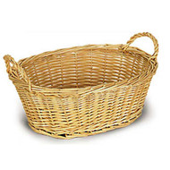 Oval Willow Bowl Style Basket w/Handles
