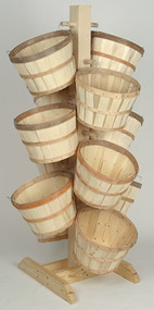 Tall Tree Display w/12 Half Bushel baskets