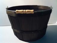 One Peck Basket Black w/Handle