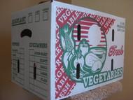 Pre-order 1 1/9 BUSHEL Waxed Vegetable Produce Box KD-131