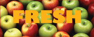 Fresh Apples banner Heavy Duty 10' x 4'