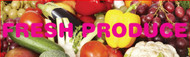 Fresh Produce banner Heavy Duty 8x3