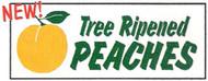 Tree Ripened Peaches banner 8' x 3'
