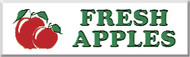Fresh Apples banner 8' x 3' Red/Green