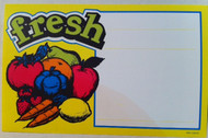 Fresh Veggies Price Card