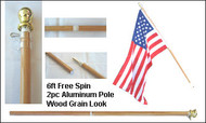 """Flag Pole """"Spin Free"""" 6'"""