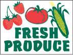 Marketeer Sign - Fresh Produce