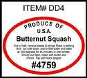 Butternut Squash PLU #4759 Label