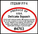 Delicata Squash PLU #4763 Label