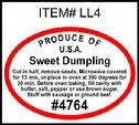 Sweet Dumpling Squash PLU #4764 Label