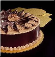 "Corrugated Cake Board - Gold 10"""