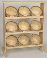 Wood Display w/9 Peck baskets TOP SHELF