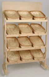 Bakers Display Rack w/12 baskets