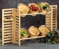 Folding Display w/6 Baskets