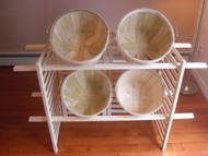 Folding Display w/4 Half Bushel Baskets