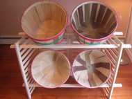 Folding Display w/4 Bushel Baskets