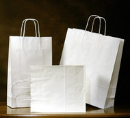 White Kraft Retail Shopper Take-out bag #9
