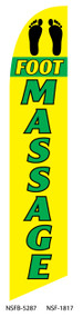 Foot Massage Yellow Tall Flag