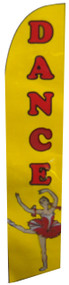 Dance Yellow Windless Tall Flag