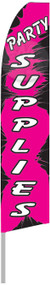 Party Supplies Pink & Black  Tall Flag