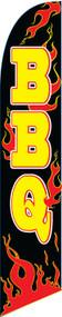 BBQ Black/Flames Tall Flag