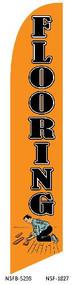 Flooring Orange Tall Flag
