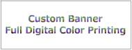 Custom Printed Banner 6' x 3' digital print
