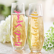 Bachelorette Stemless Wine Glass