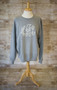 Athletic Heather Sweatshirt with Monogram Script in Ivory