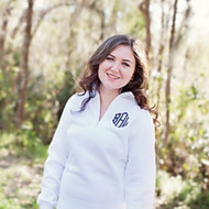 White  Pullover (Shown with diamond monogram in Navy)